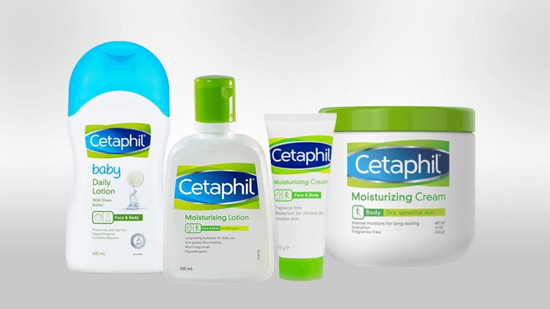 Bộ sản phẩm dược mỹ phẩm Cetaphil lành tính cho da