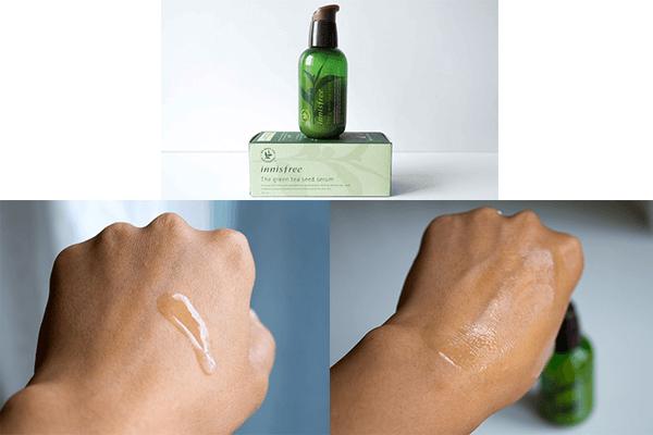 Sử dụng serum innisfree thoa đều để kháng khuẩn và ngăn dầu trên da