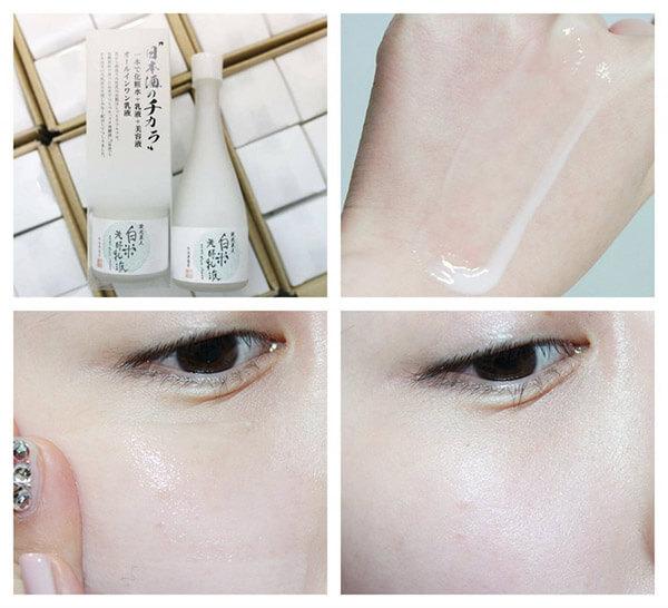 Sản phẩm Sake Lotion giúp da dưỡng trắng mịn màng