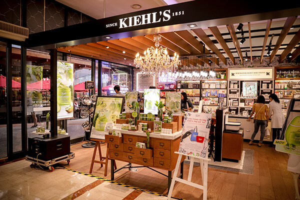 Một số store Kiehl's có mặt tại các tỉnh thành lớn tại Việt Nam