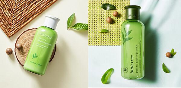 Green Tea Balancing Lotion loại mới (bên phải) và cũ (bên trái)