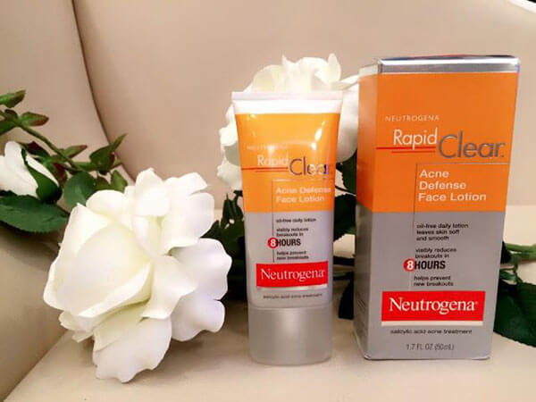 Neutrogena Rapid Clear Acne Defense Face Lotion đem lại làn da khỏe mạnh trắng sáng