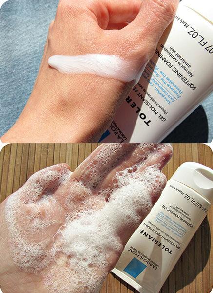 Người bị da dầu nhờn có thể chọn sữa rửa mặt Laroche Posay Toleriane để sử dụng