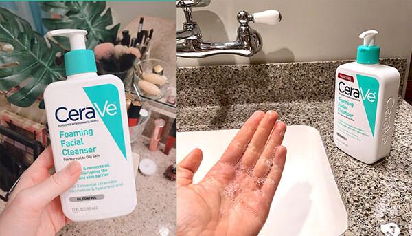 Top sữa rửa mặt cho da dầu: Cerave Foaming Facial Cleanser