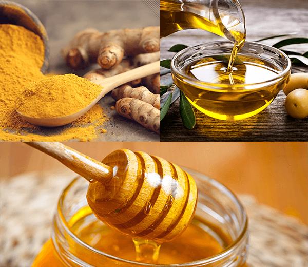 Dưỡng ẩm làn da với mặt nạ mật ong nghệ dầu oliu