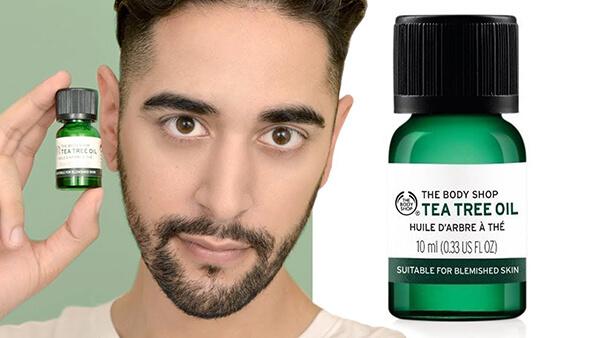 Tea Tree Oil với thành phần chiết xuất từ tràm trà tự nhiên 100%, đảm bảo an toàn lành tính cho mọi loại da