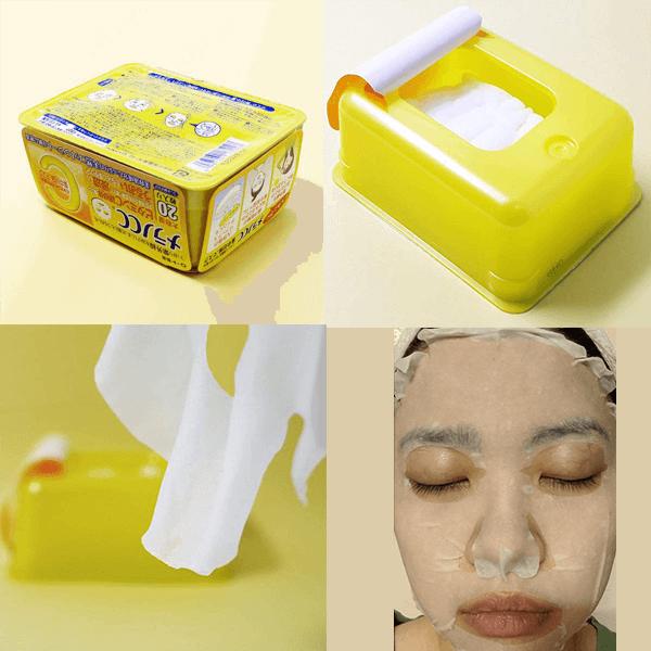 Sử dụng mặt nạ Rohto Melano CC Whitening Mask