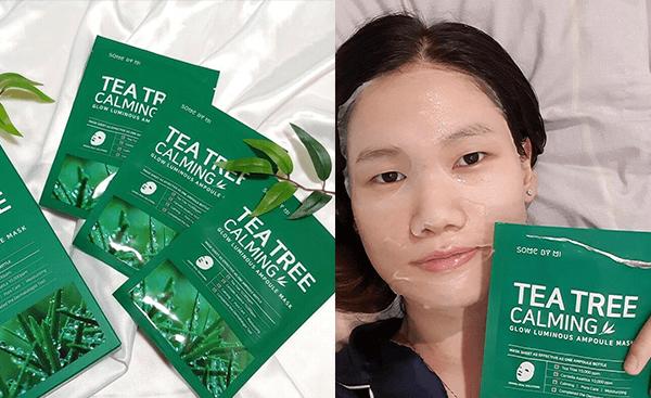 Sử dụng Mặt nạ Some By Mi Tea Tree Calming Sheet