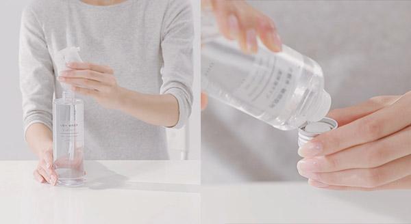 Sử dụng nước hoa hồng Muji kết hợp với kem dưỡng da giúp tăng hiệu quả dưỡng chất