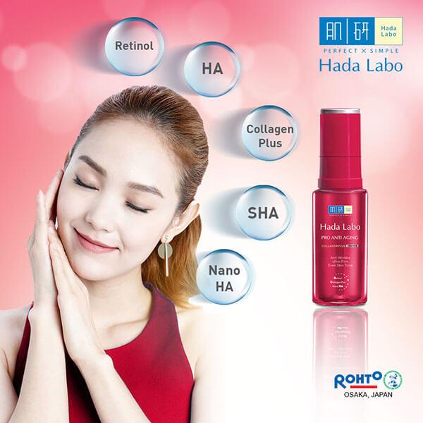 Hada Labo Pro Anti Aging Collagen Plus Lotion - dưỡng ẩm, cải thiện lão hóa cho da.