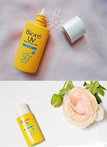 Biore UV thuộc top kem chống cho da hỗn hợp được săn đón nhiều nhất