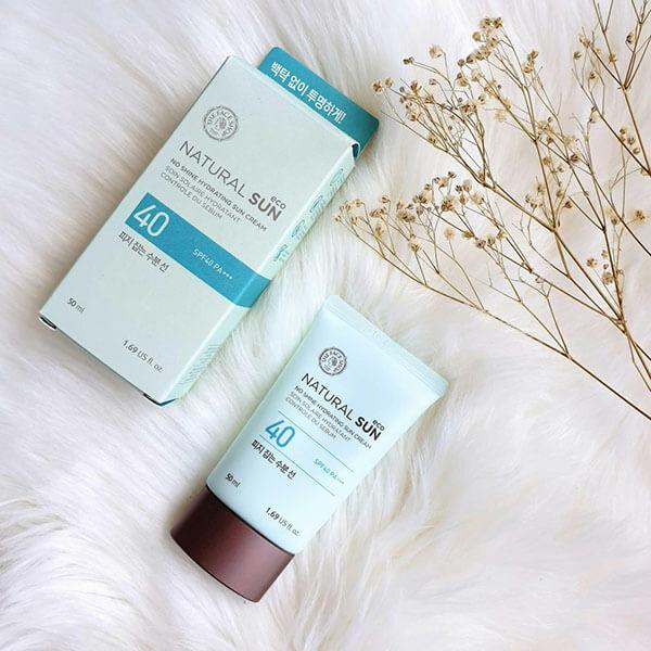 Natural Sun Eco No Shine Hydrating Sun Cream - Chống nắng và dưỡng ẩm hiệu quả cho da