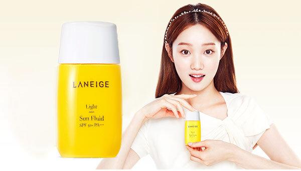 Sản phẩm chống nắng nổi tiếng tại Hàn Quốc