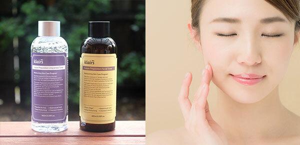 Dùng một lượng toner Klairs và vỗ nhẹ lên phần da cần được cấp dưỡng ẩm